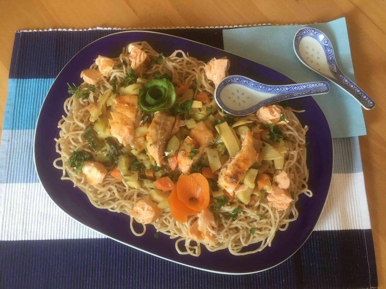 Rezept Asiatische Mie-Nudeln mit Gemüse